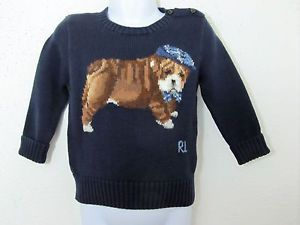 70 Boys Polo Ralph Lauren Puppy Dog Sweater Holiday Pullover Shirt