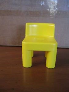 Little Tikes Dollhouse Size Yellow Kitchen Chair Doll House Replacement Seat Toy