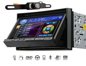 "Double 2 DIN 7"" LCD Car Stereo DVD CD MP3 Player USB Bluetooth iPod Radio Camera"