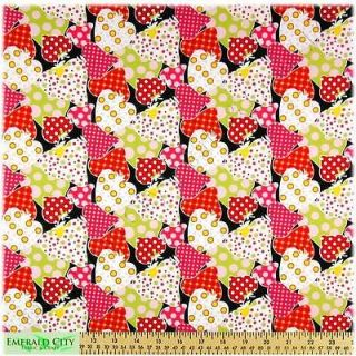 """Alexander Henry Boutique Baby Berry Strawberry Cotton Fabric 27""""x44"""" Remnant"""