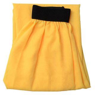 Women Double Layer Chiffon Pleated Retro Long Elastic Waist Maxi Dress Skirt