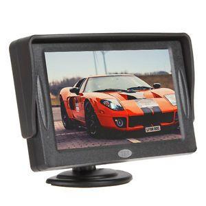 4 3 inch LCD Sunshade Car Rear View Monitor DVD VCR Monitor US Shipping