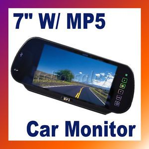 """7"""" LCD Screen Color Car Rearview Mirror Monitor w SD MMC USB MP5 FM DC 12V New"""