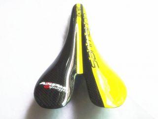 Black Yellow Super Ultra Light Full Carbon Saddle Seat Road Mountain Bike Seat