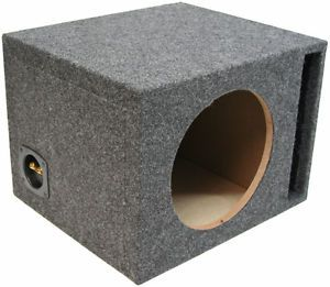 Single 12 inch Ported Subwoofer Box Car Audio Stereo Bass Speaker Sub Enclosure