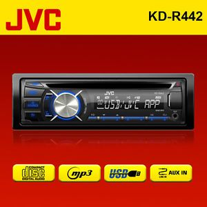 JVC KD R442 Car CD  Stereo Front USB Aux in RDS Radio Tuner Android Player