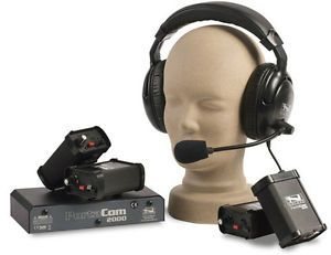 Portacom Communications System 4 Headsets Dual Muff System
