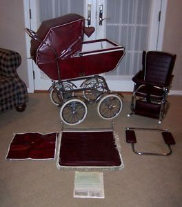 Vintage Wonda Chair Baby Carriage Buggy Stroller Chair Rocker Bassinet 1950s 60s