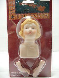 Gerson International Porcelain Doll Parts 56150 Face Hands Craft Supplies