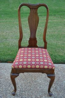 Ethan Allen Georgian Court Dining Chair Queen Anne 11 6211 C 1974 Cosmetic