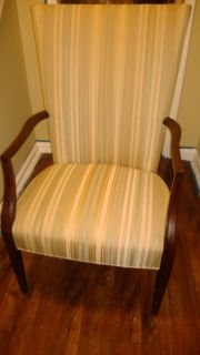 Pair of Federal Style Lolling Living Room Chairs w English Antique Wood Finish