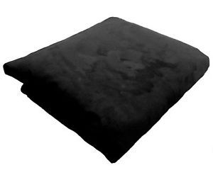 6' Cover Cozy Sac Love Bean Bag Chair Black Suede New