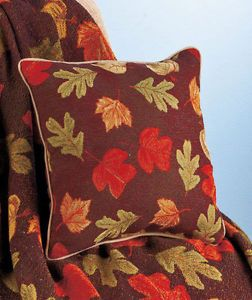 """17"""" Pillow Fall Harvest Leaves Colorful Seasonal Sofa Chair Bed Home Accent New"""