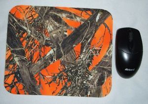 Mossy Oak Break Up Real Tree Camo Camouflage Hunter Orange Mouse Pad Desk Office