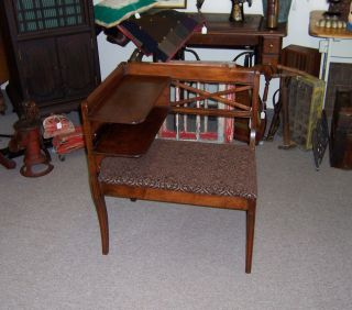 """Vintage Telephone Table Chair """"Gossip Bench"""""""