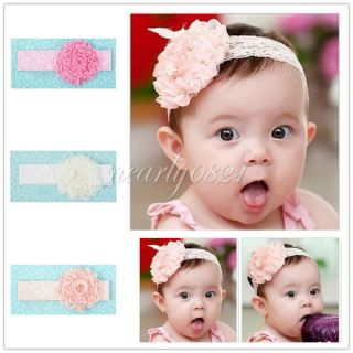Cute Baby Girls Kids Toddler Hairband Lace Bow Flower Headband Hair Accessories