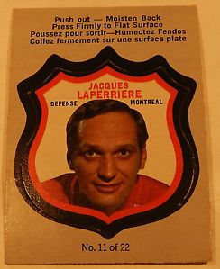 Jacques Laperriere 11 1972 73 PSA 4 OPC Players Crest Pushout Moisten Back