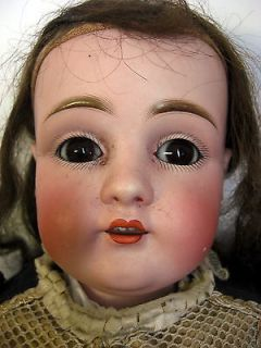 Antique Kestner Dep 154 1 2 Bisque Head Hands Kid Leather Doll 28 5""