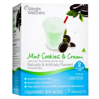 Weight Watchers Mint Cookies Cream Smoothie Mix 2 Points Plus New