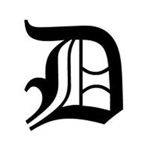 Old English Lettering Letter D Car Tablet Vinyl Decal