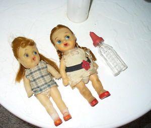 Dolls Vintage Bottle Babies with Glass Bottle Old Rubber Dolls Doll Clothing Old