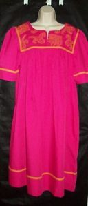 Go Softly Duster House Dress Muu Wrinkle Resist L