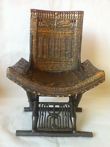 King Tut Egyptian Throne Chair