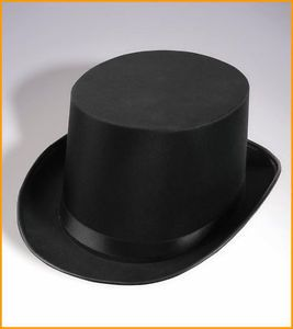 Tuxedo Silk Satin Black Top Hat Roaring 20s Adult Child Formal Costume Magician