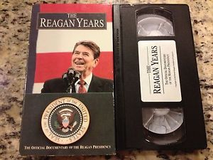 The Reagan Years Official Documentary of Presidency RARE VHS Never on DVD