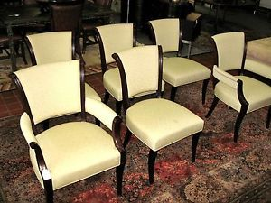 ... Set Of 6 Barbara Barry Dining Chairs By Baker Furniture ...