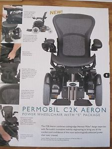 """Permobil Power Chair Model C2K Aeron with """"s"""" Package"""
