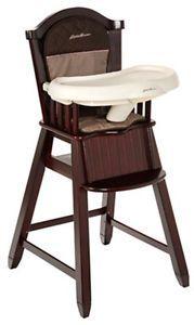 Eddie Bauer Classic Cherry Wood Baby Child High Chair