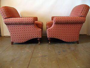 Charles Stewart Club Chairs Pair Luxurious High End Lounge Chairs Pair