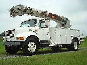2001 International Altec 45' Digger Derrick Bucket Utility Crane Truck IHC DSL
