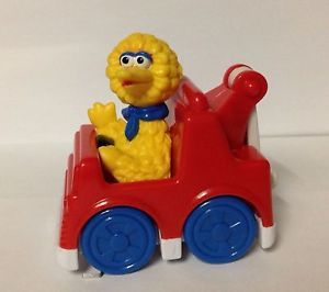 Tyco Sesame Street Big Bird Driving Tow Truck Rolling Toy 1993