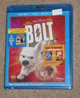 New Disney Bolt Blu Ray DVD Digital Copy 3 Disc Set
