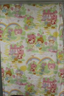 Strawberry Shortcake Vintage Twin Flat Bedding Sheet