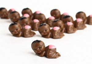 12 Miniature African American Baby Girl Shower Party Favors Supplies Cakes