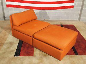 Vintage Eames Era Milo Baughman for Thayer Coggin Chaise Lounge Chair Sofa