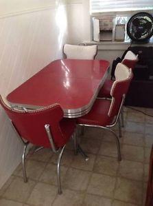 yellow vintage chrome 1950 39 s kitchen table 4 chairs dinette set retro. Black Bedroom Furniture Sets. Home Design Ideas