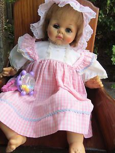 Vintage Baby Doll Madame Alexander Dolls 1965 Working Cry Box