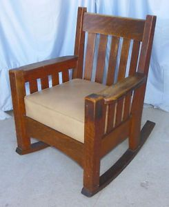 Antique Mission Oak Rocking Chair Harden Furniture Company