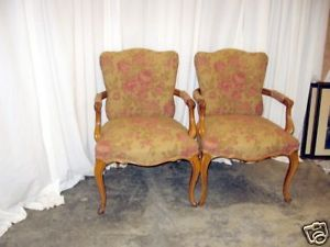 Extra Nice Pair of Antique French Style Arm Chairs