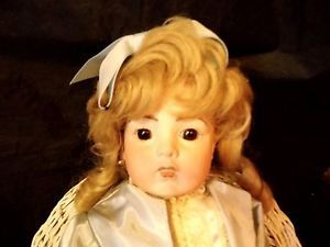 """Bru JNE 11 Vernon Seeley French Repro Bisque Doll 19"""" Tall Jointed"""