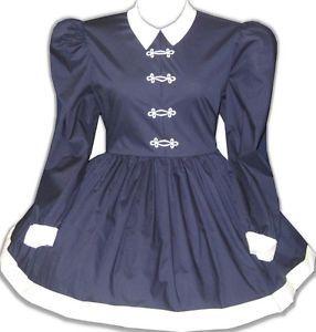 Custom Fit Navy White Sailorette Adult Baby Sissy Little Girl Dress Leanne