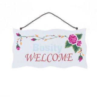 "3X Wooden Home Cafe Shop Decorative Door Welcome Sign Hanging Plaque 9 3x5x0 35"""