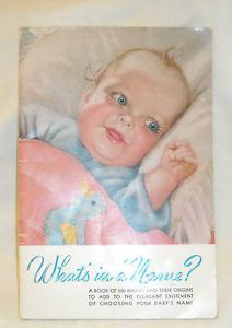 Vintage Heywood Wakefield What's in A Name Baby Book Baby Stroller High Chair Ad