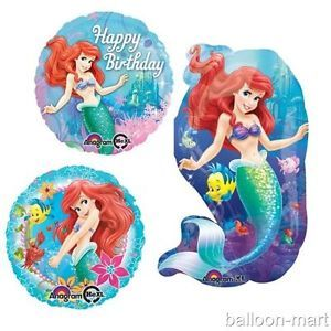 Ariel The Little Disney Mermaid Movie Princess Birthday Party Kit Supplies New