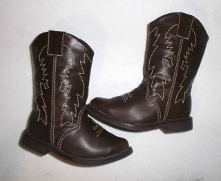 Gymboree Toddler Boys Brown Cowboy Boots Shoes Size 6 Adorable