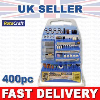 Rota Craft RC9400 Rotary Tool Accessory Kit for Dremel etc 400pc 858194